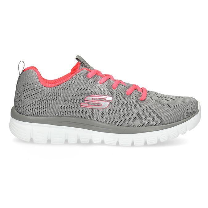 Sportovní růžovo-šedé tenisky dámské skechers, šedá, 509-2418 - 19