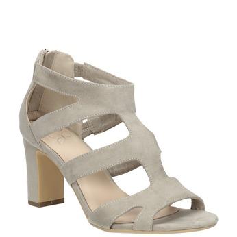 Sandály na stabilním podpatku insolia, béžová, 769-8617 - 13