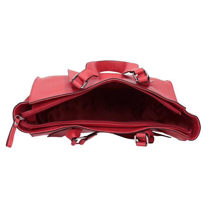 Červená kožená kabelka bata, červená, 964-5296 - 15