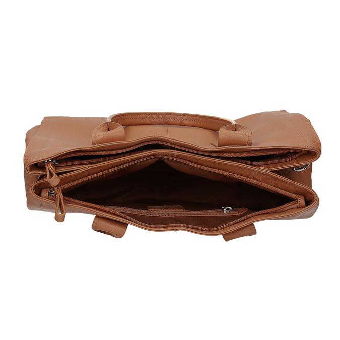 Světle hnědá kožená kabelka bata, hnědá, 964-3298 - 15