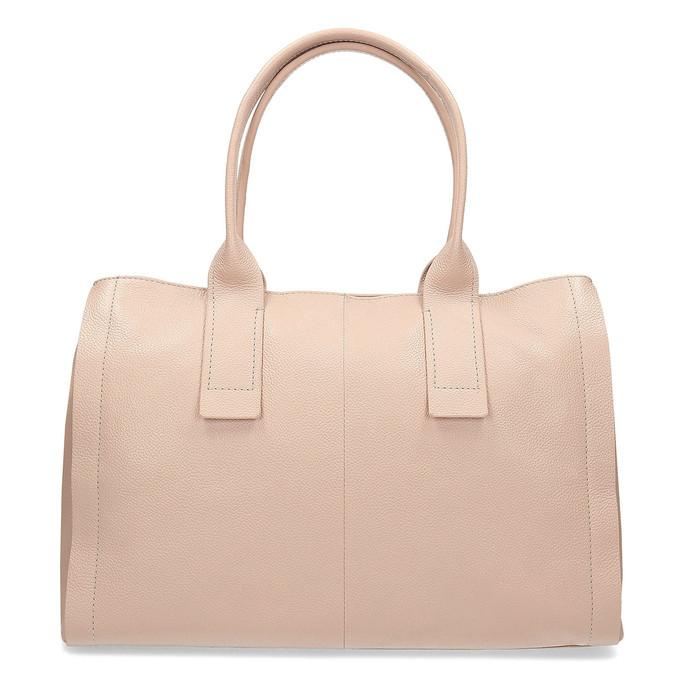 Světle béžová kožená kabelka bata, béžová, 964-8298 - 26