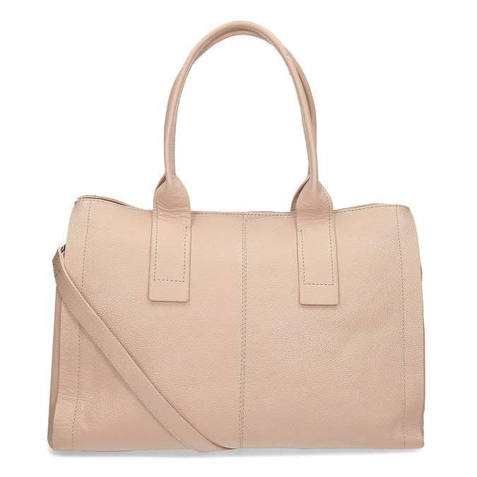Světle béžová kožená kabelka bata, béžová, 964-8298 - 16