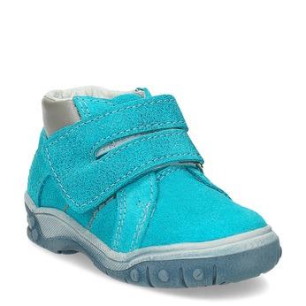 Dětské kotníčkové boty z kůže bubblegummers, modrá, 113-9608 - 13