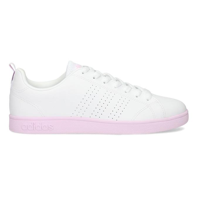 Dámské bílé tenisky s růžovou podešví adidas, bílá, 501-1533 - 19