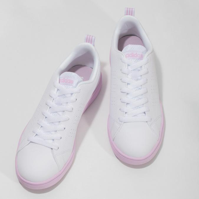 Dámské bílé tenisky s růžovou podešví adidas, bílá, 501-1533 - 16