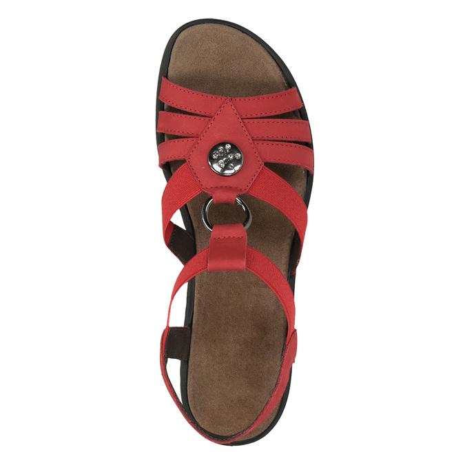Dámské kožené sandály červené comfit, červená, 666-5619 - 17