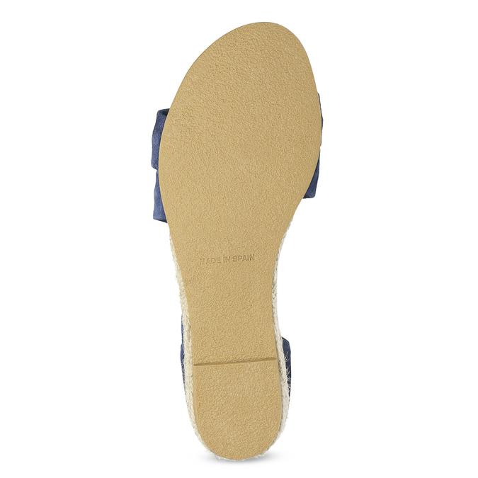 Kožené sandály na klínku modré bata, modrá, 563-9600 - 18