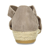 Kožené sandály na klínku bata, hnědá, 563-4600 - 15
