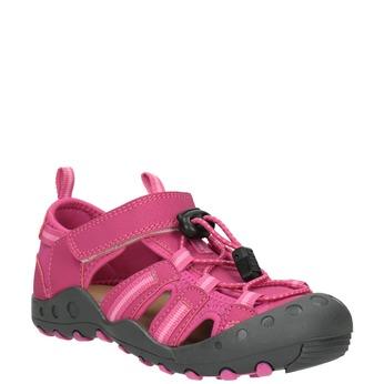 Růžové sandály s výraznou podešví mini-b, červená, 461-5606 - 13