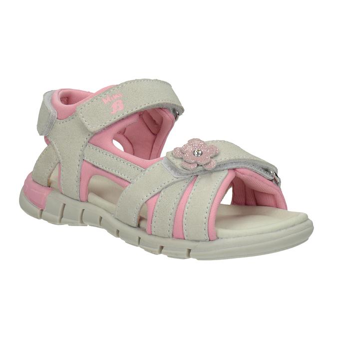 Kožené dívčí sandály s kytičkou mini-b, 263-1604 - 13