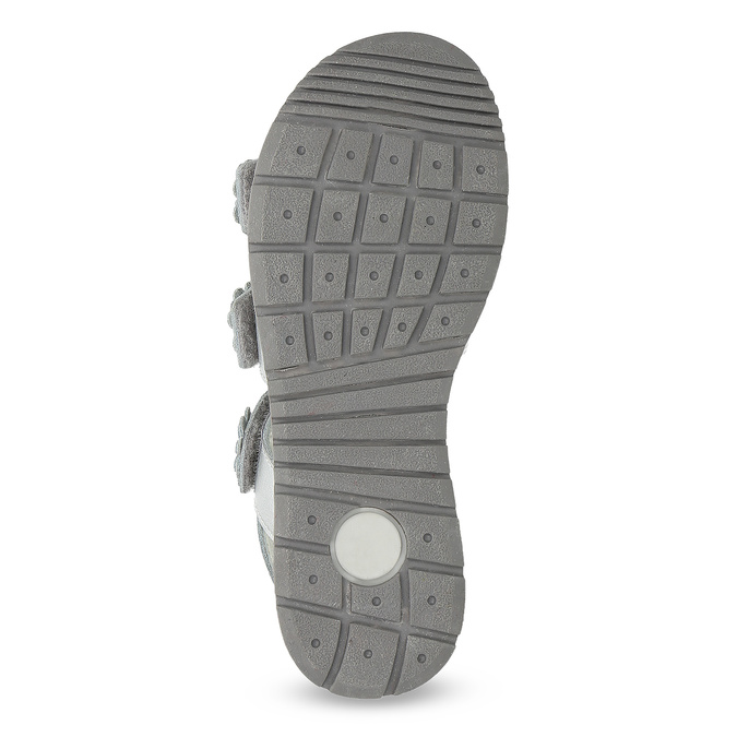 Stříbrné dívčí sandály mini-b, 364-1601 - 18