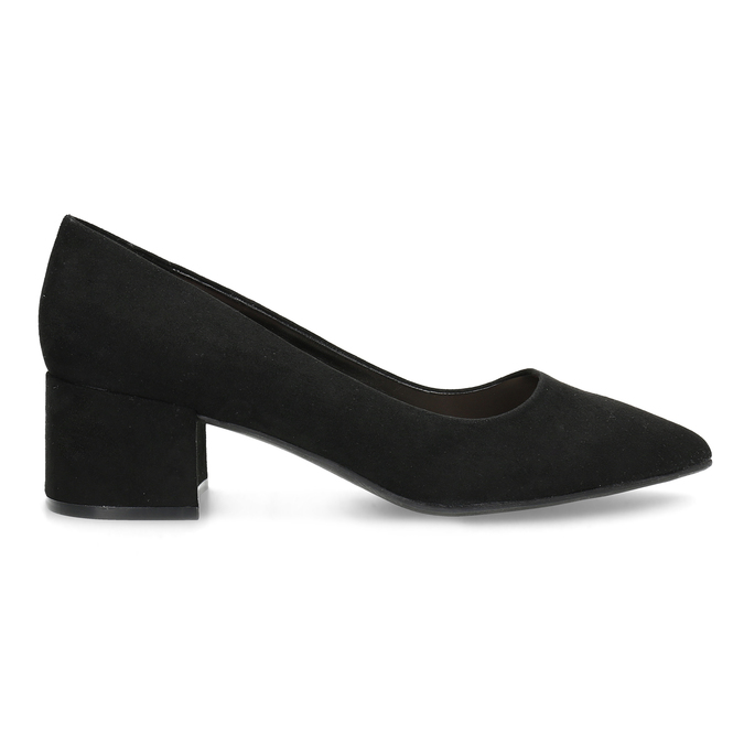 Černé lodičky na nízkém podpatku bata-red-label, černá, 629-6640 - 19
