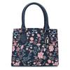 Modrá kabelka s květinovým vzorem bata-red-label, modrá, 961-9860 - 26