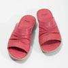 Červené dámské kožené nazouváky s řasením comfit, červená, 566-5633 - 16