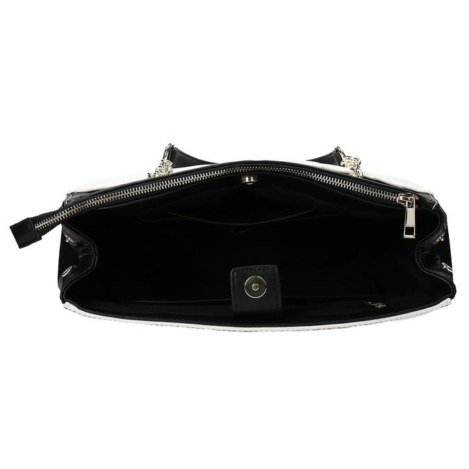 Černo-bílá kabelka s prošíváním bata-red-label, vícebarevné, 961-0863 - 15