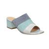 Kožené nazouváky na podpatku modré bata, modrá, 666-9625 - 13