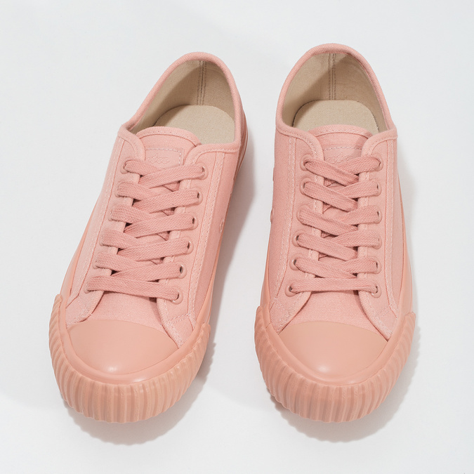 Růžové dámské tenisky s gumovou špičkou bata-bullets, růžová, 589-5333 - 16
