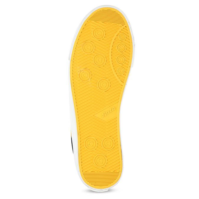Černé tenisky se žlutými detaily bata-hotshot, černá, 889-8245 - 18