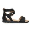 Černé dívčí sandály se zlatou sponou mini-b, černá, 361-6606 - 19