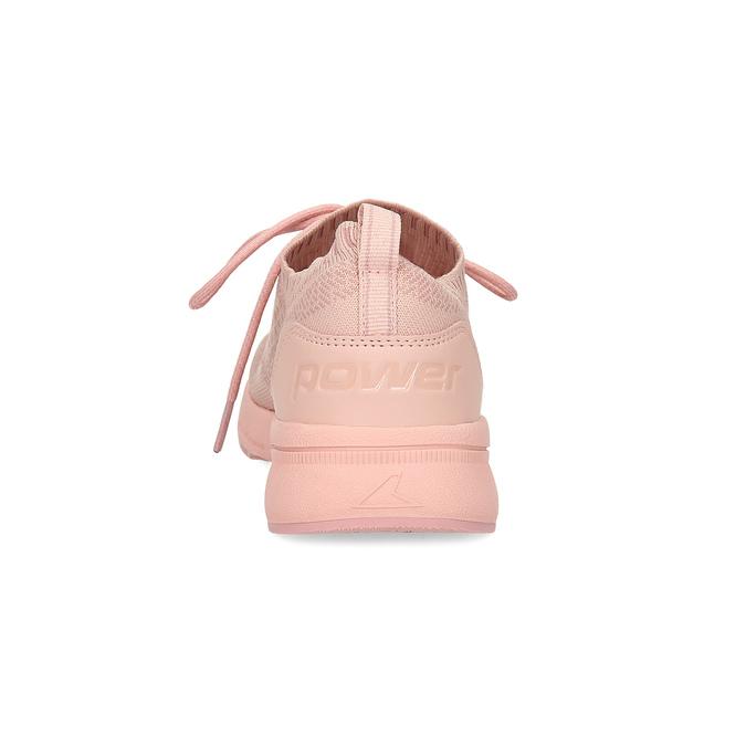 Dámské světle růžové tenisky z úpletu power, růžová, 509-5217 - 15