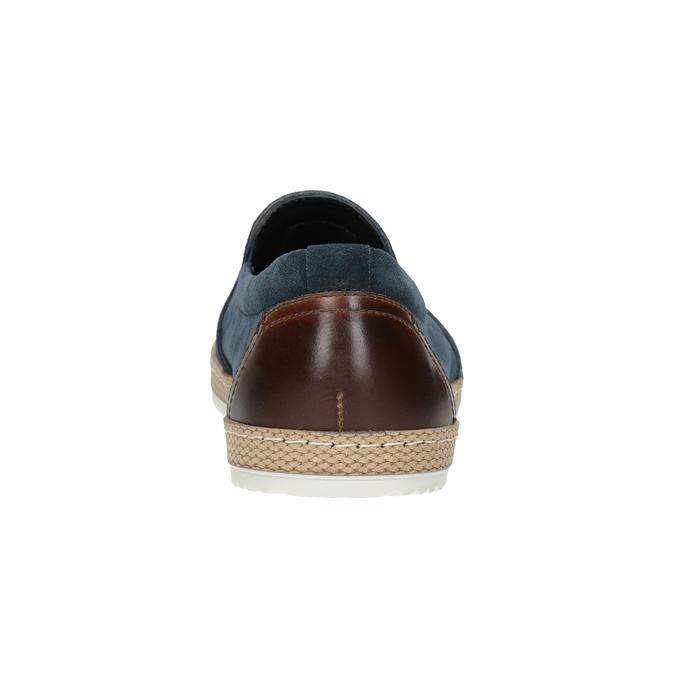 Pánské Slip-on z broušené kůže tmavě modré bata, modrá, 833-9602 - 16