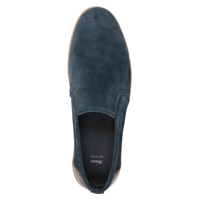 Pánské Slip-on z broušené kůže tmavě modré bata, modrá, 833-9602 - 15