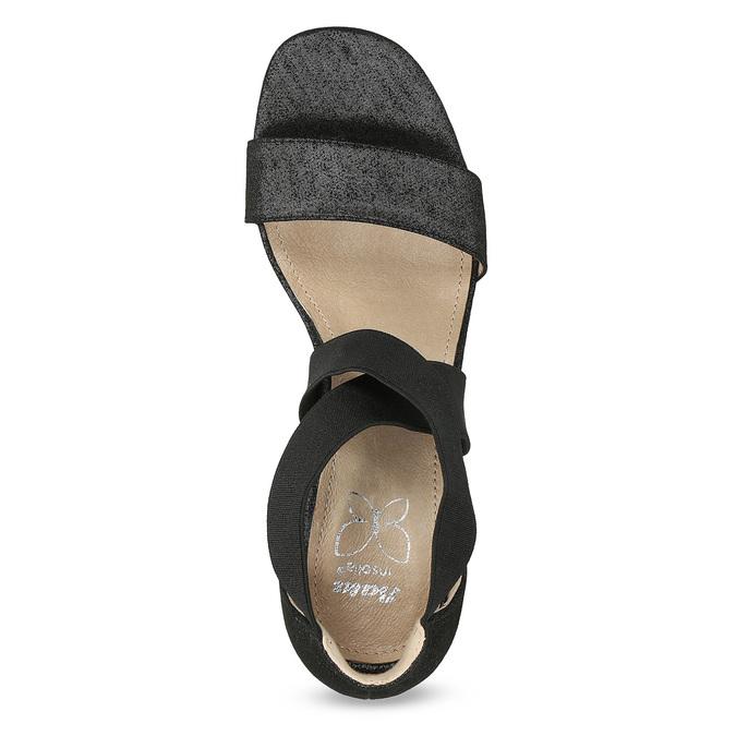 Černé sandály na jehlovém podpatku insolia, černá, 769-6625 - 17
