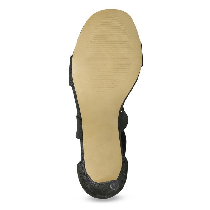 Černé sandály na jehlovém podpatku insolia, černá, 769-6625 - 18