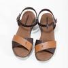 Dámské hnědé kožené sandály weinbrenner, hnědá, 566-4642 - 16