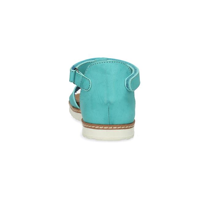 Tyrkysové dívčí sandály mini-b, tyrkysová, 361-9614 - 15