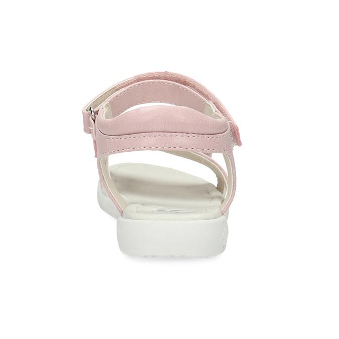 Růžovo-bílé dívčí sandály s kytičkami mini-b, růžová, 261-5615 - 15