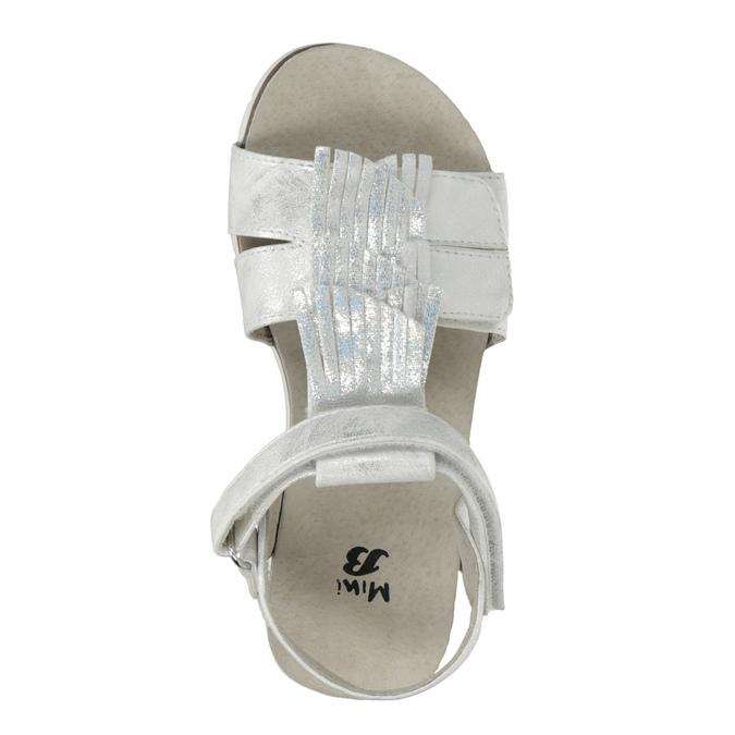 Stříbrné dívčí sandály mini-b, stříbrná, 261-1612 - 17