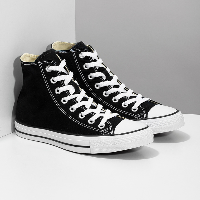 Dámské kotníčkové tenisky s gumovou špicí converse, černá, 589-6278 - 26