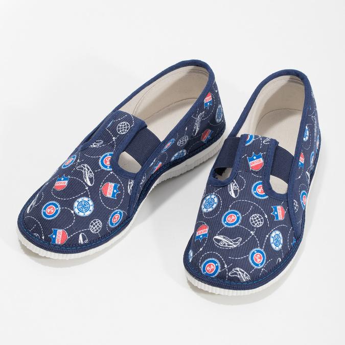 Dětské pantofle bata, modrá, 379-9012 - 16