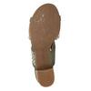 Kožené sandály na stabilním podpatku šíře G gabor, khaki, 766-7035 - 17