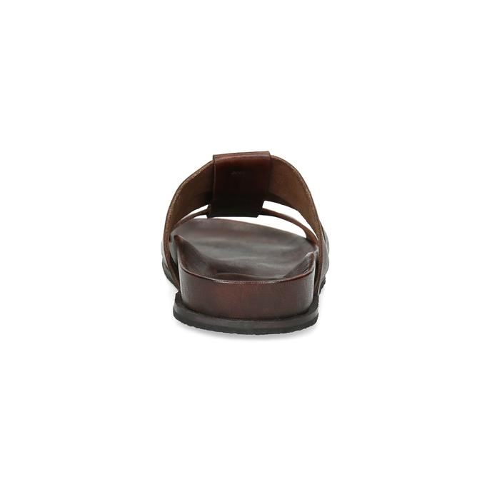 Hnědé pánské minimalistické kožené nazouváky bata, hnědá, 866-4639 - 15