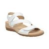 Kožené bílé sandály na suchý zip gabor, bílá, 666-1018 - 13