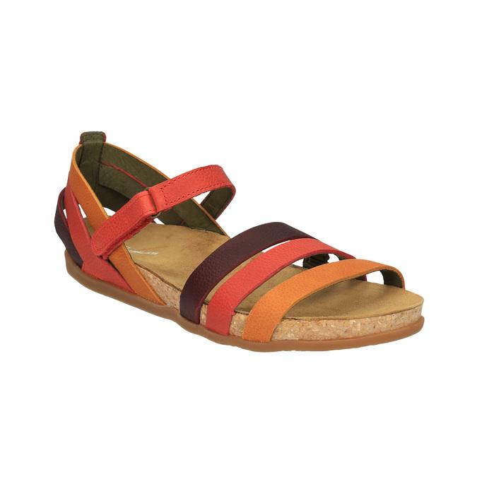 Dámské kožené sandály el-naturalista, červená, 564-5011 - 13