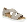 Kožené sandály šíře G gabor, béžová, 666-8347 - 13