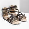 Dívčí páskové sandály bullboxer, černá, 361-6610 - 26