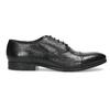 Černé kožené Oxford polobotky bata, černá, 824-6944 - 19