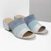 Kožené nazouváky na podpatku modré bata, modrá, 666-9625 - 26