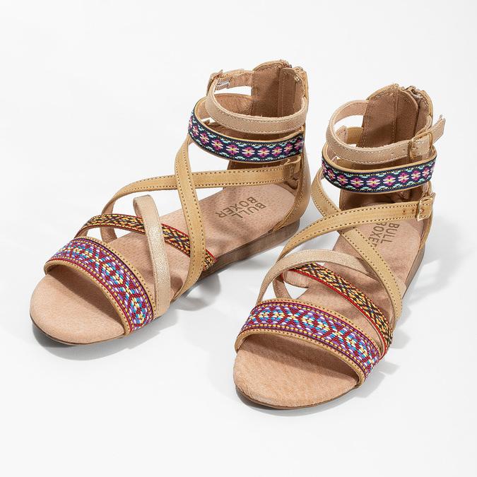 Páskové sandály v Etno stylu bullboxer, béžová, 361-8611 - 16