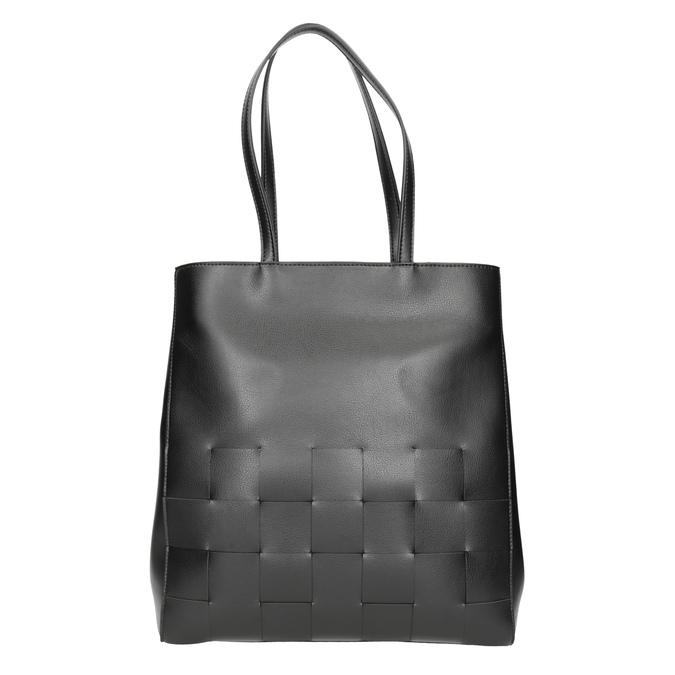 Černá kabelka s proplétáním bata, černá, 961-6236 - 26