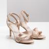 Růžové sandály na jehlovém podpatku s volánem insolia, růžová, 769-5619 - 26