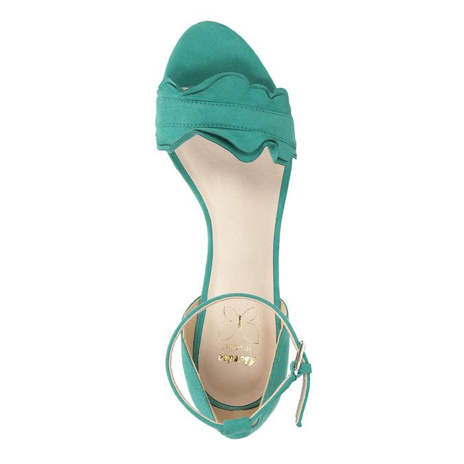 Tyrkysové sandály na klínku s volány insolia, tyrkysová, 769-9618 - 17
