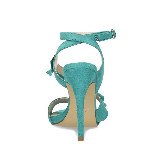 Dámské sandály s volánem tyrkysové insolia, tyrkysová, 769-9620 - 15