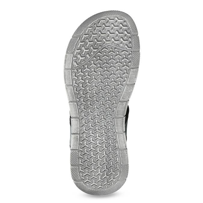 Modré kožené pánské sandály na suchý zip bata, modrá, 866-9640 - 18