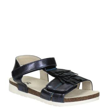 Dívčí sandály s třásněmi mini-b, modrá, 261-9612 - 13