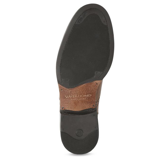 Dámská hnědá kožená Chelsea obuv vagabond, hnědá, 514-3002 - 18